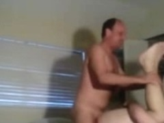 Stud undresses to fuck fastened and blindfolded partner