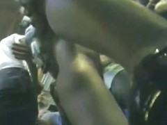 Real upskirt video of sexy chicks in line for the club