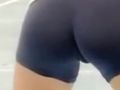 Second skin shorts on hot volleyball players