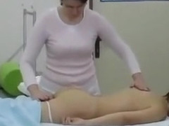 Spinal touch massage and panty girl tease