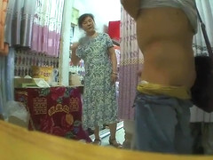 Wanking to an Asian lady in her store