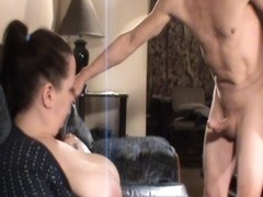 cfnm milf humilates him