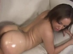 Tia Sweets gets oiled and feels cock in twat