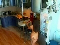 verry hot brunnette in the kitchen