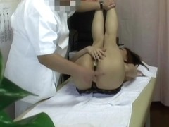 Amateur girl is in ecstasy on this massage voyeur movie