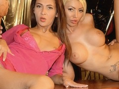 Alexis Brill & Ava Campos in After Hours Sex Party Foursome - RealSlutParty