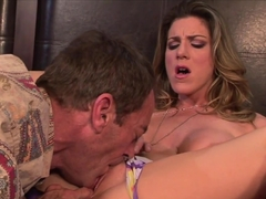 Sensual Kayla Paige rams this hard dick down her throat