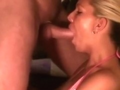 Deepthroat mouthfucking the gf and cumming on her face