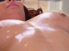 Oiled Ashley Graham having fun with Keiran Lee