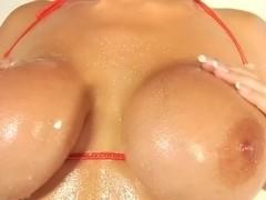Alanah Rae Greases Up her Big Tits and Gets Fucked Hardcore