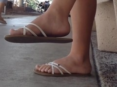 Perfect College Girl Feet Dangle with FaceShot