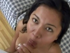 Dark haired and lusty babe Nakia enjoys in amateur sex