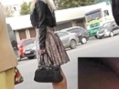 Unforgettable street upskirt footage