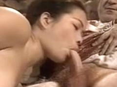 Asian Young Girl Casting made by Older & Fat Grandpa