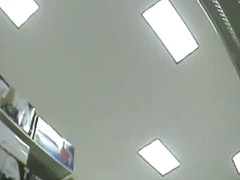 Amateur hidden camera upskirt of women shopping at the store