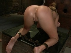 Young Aiden Aspen gets it hard In bondage