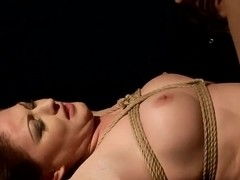 Crazy BDSM scene with remarkable, but scared babe Safira White