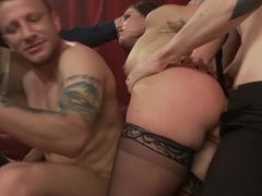 Deviant Desire: Fallon provokes the mob to get the gang-bang of her dreams!!