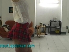 Lapdance by hot and slim blonde