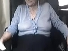 My hot homemade mature shows me teasing on webcam