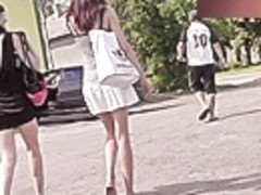 Great candid upskirt video