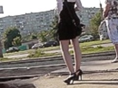 Amazing outdoor upskirt footage