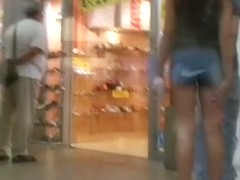 Street voyeur view of girls sexy legs and ass in stockings