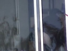 Cute neighbor gets naked and shows her entire body