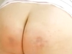 Big  sexy undressed ass spanked and slapped hard as a torture