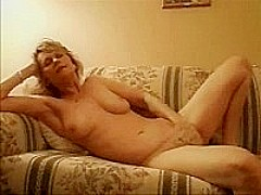 Blonde mature masturbating