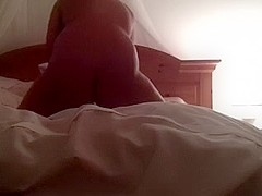 I am playing alone in my ottoman with a sex toy on self shot movie