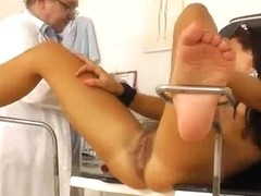 Hairy pussy caught on hidden cam during physical exam