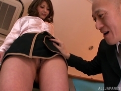 Mei Asou promiscuous Asian teacher gets hot threesome