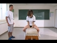 (censored) oriental legal age teenager exercise shorts fuck