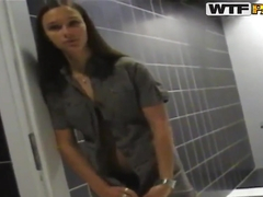 Boy is fucking very young girl Victoria Sweet in the WC