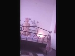 Absolutely delicious Black girl playing with herself in her room