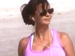 candid sexy milf huge jiggly tits walking slow mo