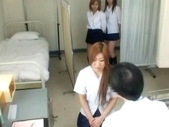 Amazing Jap teens exposed completely during medical exam