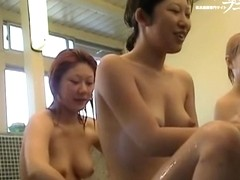 Seducing Asian dolls with great foamed bodies on spy cam dvd 03226