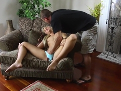 Incredible pornstar Jessie Andrews in horny small tits, cunnilingus porn clip