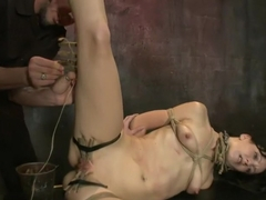 Young Rope Slut Gets a Full Day of Intense Bondage - Live