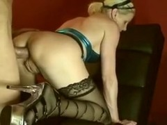Nympho mother i'd like to fuck loves to smack her own gazoo