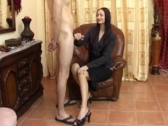 Delicia Deity tugjob and footfetish