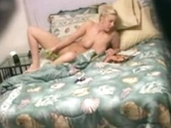 Real hidden cam masturbation with toy from blonde amateur
