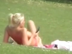 Topless in the park