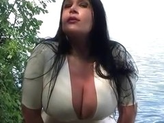 Lake Garde Public Blowjob - Outdoor Blowjob Handjob - Cum on my Tits