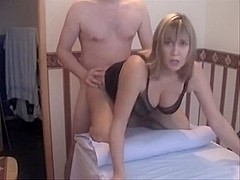 Busty golden-haired mature I'd like to fuck receives nailed
