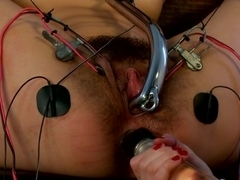 Hair Fetish Model, Bianca, is Back for intense Electrosex!