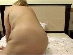 Aged fatty sucks knob and acquires drilled in hotel ottoman
