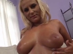 Sexy blonde MILF whore fucked roughly in her cunt